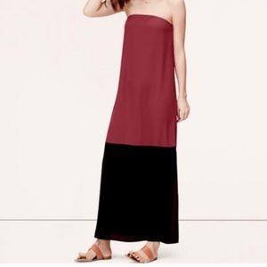 LOFT strapless maxi dress